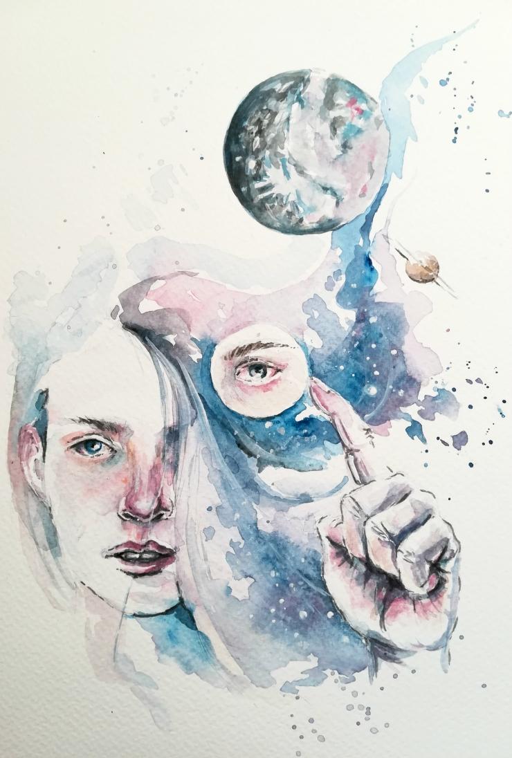 Silvia Bobekova Art - Solar System for Nina (2018)